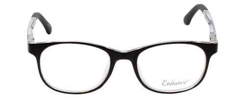 Enhance Kids Prescription Glasses EN4132 46 mm Glossy Matte Black/Crystal Clear