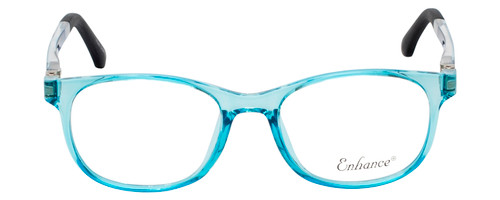 Enhance Kids Prescription Eyeglasses EN4132 46mm Crystal Blue/Matte Black Custom