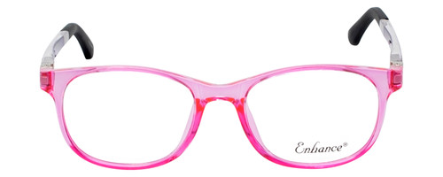Enhance Kids Prescription Eyeglasses EN4132 46mm Crystal Pink/Matte Black Custom