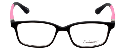 Enhance Kids Prescription Eyeglasses EN4143 44 mm Matte Black/Pink Custom Lenses