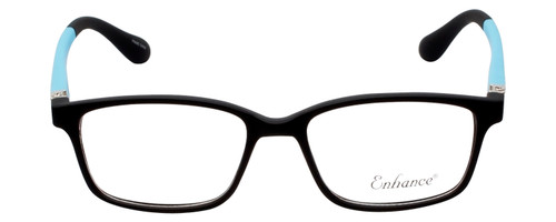 Enhance Kids Prescription Eyeglasses EN4143 44 mm Matte Black/Blue Custom Lenses