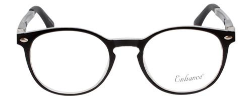 Enhance Kids Prescription Eyeglasses EN4119 46 mm Glossy Matte Black/Crystal Rx