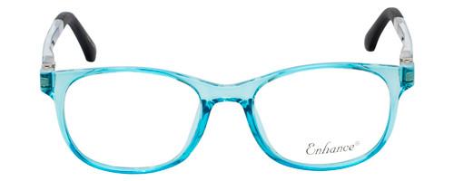 NY Eye Enhance Kids Prescription Glasses EN4132 46mm Crystal Blue/Matte Black Rx