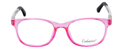 NY Eye Enhance Kids Prescription Glasses EN4132 46mm Crystal Pink/Matte Black Rx