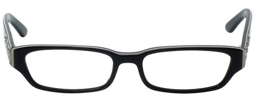 Calabria Designer Reading Glasses 820 in Black with Blue Light Filter + A/R Lenses