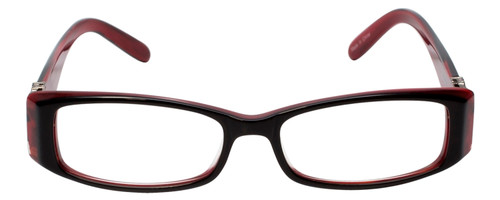 Calabria 840 Dazzles Crystals Eyeglasses in Red w/ Blue Light Filter + A/R Lenses