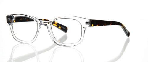 Eyebobs Designer Reading Glasses Butch 2249 20 in Crystal and Tortoise 45mm