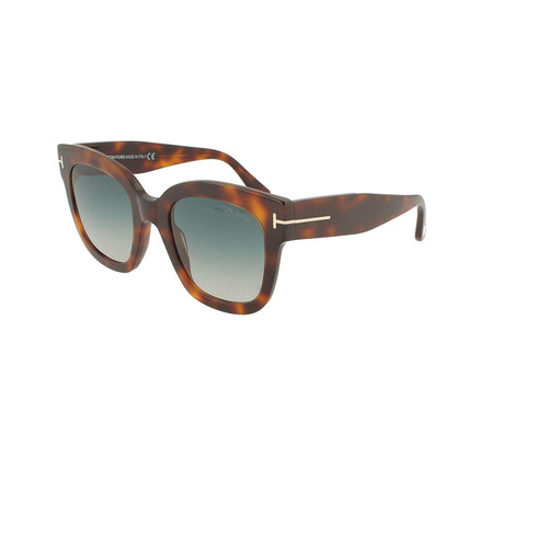 Tom Ford Designer Sunglasses Beatrix FT0613-53W in Havana/Grey Gradient Lens