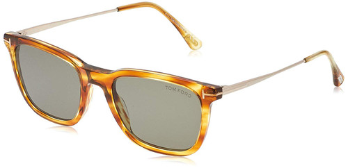 Tom Ford Designer Sunglasses Arnaud FT625-47A in Light Havana/Grey Gradient Lens