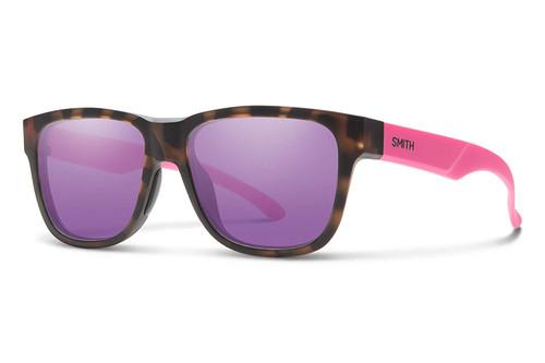 Smith Lowdown Slim 2 Sunglasses Matte Tortoise Brown Gold Carbonic Violet Mirror