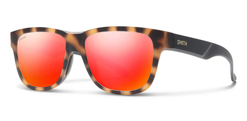 Smith Lowdown Slim 2 Carbonic Polarized Sunglasses, Matte Honey Tortoise Havana Red Mirror