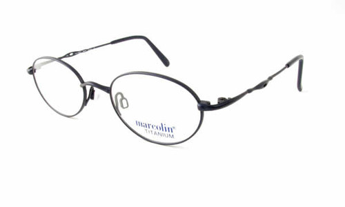 Marcolin Designer Eyeglasses 2030 in Blue 46mm:: Custom Left & Right Lens