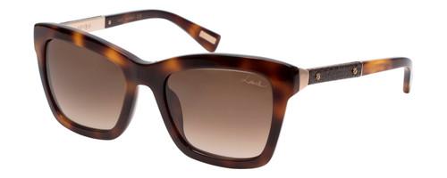 Lanvin Designer Sunglasses Havana Tortoise Gold/Brown Gradient SLN673V-0752-52mm