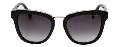 Lanvin Designer Sunglasses Black/Gold/non-polarized Grey Gradient SLN728-0BLK-52