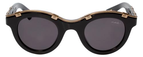 Lanvin Designer Sunglasses Black & Gold non-polarized Grey Lens SLN692-700Y-45mm