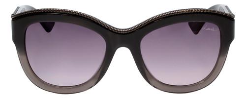Lanvin Designer Sunglasses Black Crystal Smoke Fade Grey Gradient SLN693-0AH8-52