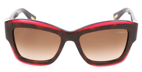 Lanvin Designer Sunglass Dark Havana Tortoise/Bordeaux Red Fade Brown Gradient