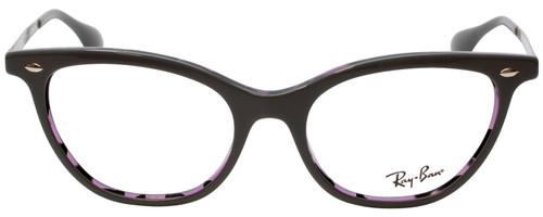 Ray Ban Prescription Eyeglasses RB5360-5718-52 mm Glossy Grey / Purple Tortoise