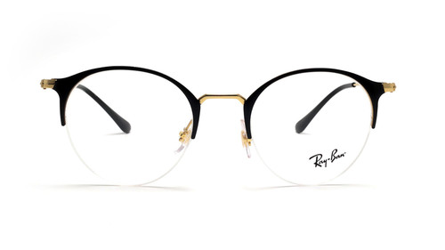 Ray Ban Prescription Eyeglasses RB3578V-2890-50mm Black/Shiny Gold Custom Lenses