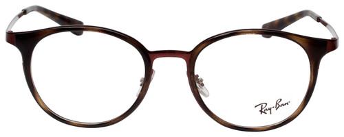 Ray Ban Prescription Eyeglasses RB6372M-2922-50 mm Havana Tortoise/Burgundy Red