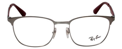 Ray Ban Designer Reading Glasses Shiny Silver/Matte Burgundy Red RB6356-2880-50 Custom L&R