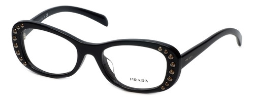 Copy of Prada Designer Eyeglasses VPR21R-1AB1O1 in Black 51mm :: Custom Left & Right Lens