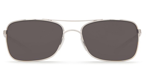 Costa Del Mar Palapa 580P Polarized Sunglasses in Palladium with Crystal Red Temples & Grey Lens