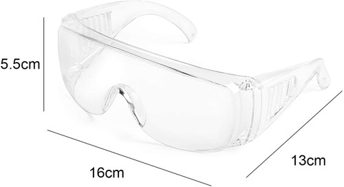 Calabria 1003 Anti Splash Safety Glasses Fitover with UV PROTECTION IN CLEAR