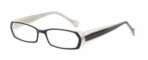 Ink Duotone Designer Reading Glasses in Black Crystal 21 Power Options