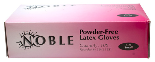 100 Ct Box Noble Powdered Free Latex Gloves Food Safe Size (Small)