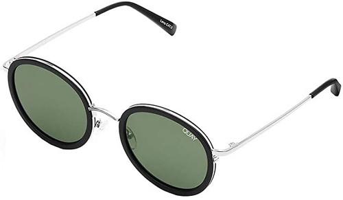 Quay Australia Firefly Designer Sunglasses Black/Non-polarized Green Lens 52mm