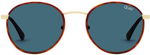Quay Australia Omen Designer Sunglasses Orange/Tort/Polarized Navy Lens 45mm