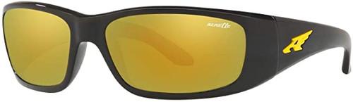 Arnette Designer Sunglasses Black/Yellow Lens 59mm