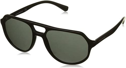 Emporio Armani Sun Designer Aviator Sunglasses Black/Grey Lens 57mm