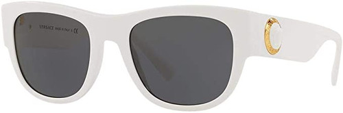 Versace Women's Designer Cateye Sunglasses White/Grey Lens 55mm
