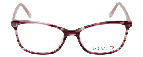 Vivid Designer Reading Eyeglasses 893 Marble Wine Red/Purple 52 mm