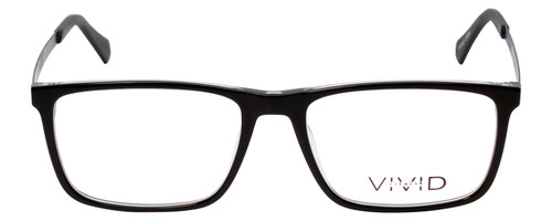 Vivid Designer Reading Eye Glasses 891 in Glossy Black/Crystal Clear 55 mm