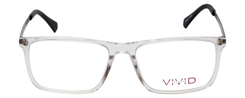 Vivid Designer Reading Eye Glasses 891 in Glossy Crystal Clear 55 mm