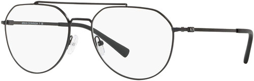 AX Armani Exchange AX1029 in Gunmetal Black Aviator Eyeglasses 57 mm Custom Lens