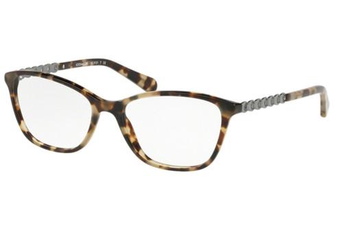 Coach  Designer Eyeglasses HC6121 in Grey Green Tortoise- 55 mm Custom Lens