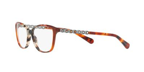 Coach  Designer Eyeglasses HC6121 in Amber Grey Tortoise-53 mm