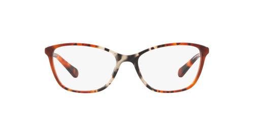 Coach  Designer Eyeglasses HC6121 in Amber Grey Tortoise-53 mm Custom Lens