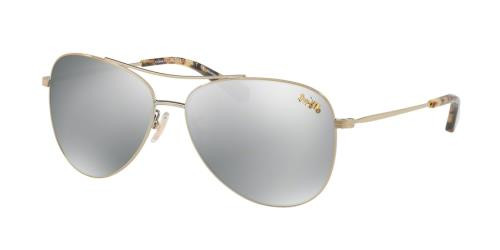 Coach Designer Sunglasses HC7079 with Gold Frames & Gold Mirror Lens -58MM