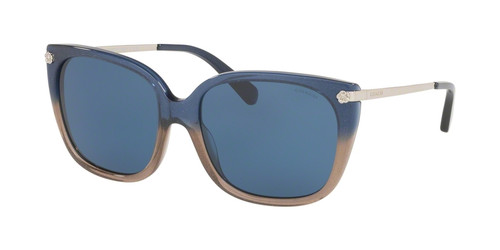 Coach Designer Sunglasses with Blue Glitter Frames/Blue Lens-HC8272-548980-56MM