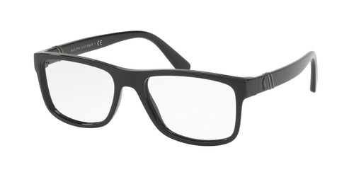 Ralph Lauren Polo Prescription Eyeglasses in Shiny Black PH2184-5001-55 mm RX SV