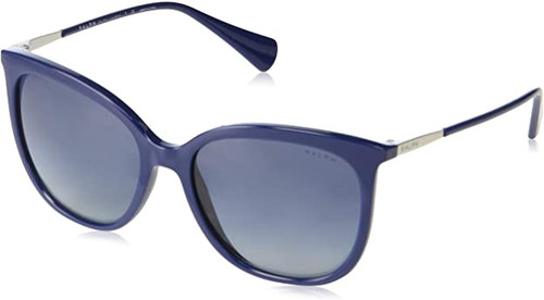 Ralph Lauren Polo Designer Sunglasses in Blue Frame with Grey Lens-RA5248-57404L-56mm