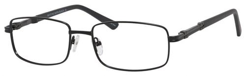 Dale Earnhardt, Jr Designer Eyeglasses 6813 in Satin Black 54mm Custom Lens