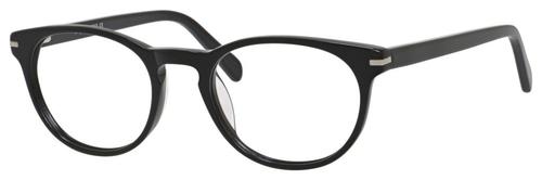 Esquire Designer Unisex Oval Frame Eyeglasses EQ1510 in Shiny Black-50 mm Custom Lens