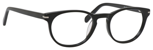 Esquire Designer Unisex Oval Frame Eyeglasses EQ1510 in Shiny Black-50 mm