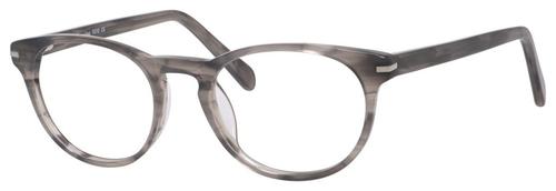 Esquire Designer Unisex Oval Frame Eyeglasses EQ1510 in Grey Amber-50 mm Custom Lens